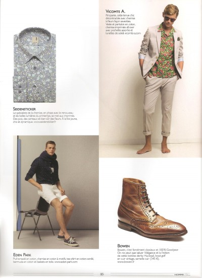 Homme Deluxe article – Avril 2015