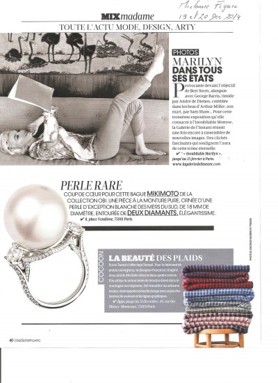 Madame Figaro – 20 dec 2014